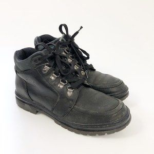 Vintage Timberland Black Leather Boots 9M